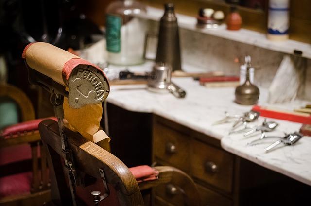 美容院の席